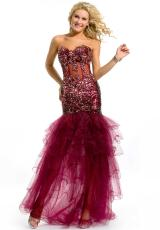 Party Time Dresses 6054.  Available in Burgundy, Royal, Turquoise